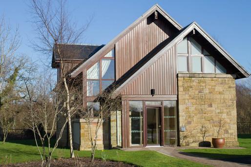 Modern facade of Cameron Lodge