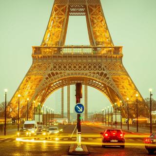 architecture-sunset-bridge-traffic-night