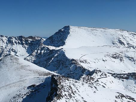 Ski season in the Sierra Nevada near Marbella