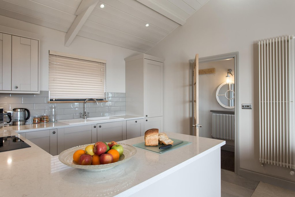 Light and bright kitchen at Laugharne Park