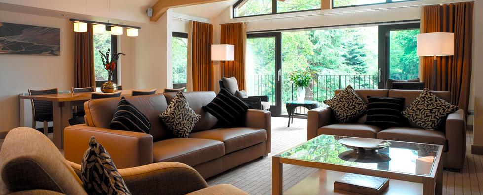 Dunkeld Lodges stylish lounge area