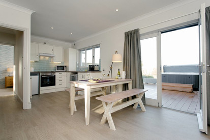 Lodges with seaside feel