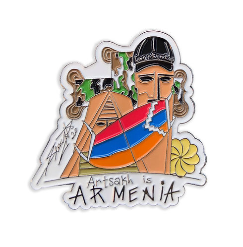 Artsakh is Armenia Pin