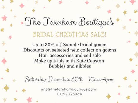 Christmas Bridal Sale