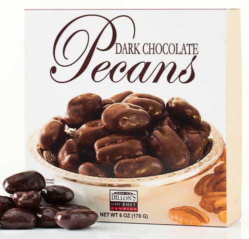 6 oz Box of Dark Chocolate Pecans (3 units) *Shipping Included