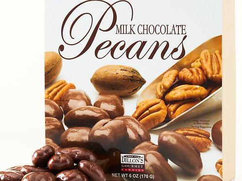 6 oz Box of Milk Chocolate Pecans (12 Count) NEW SIZE