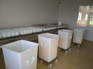 salle de fabrication des camemberts