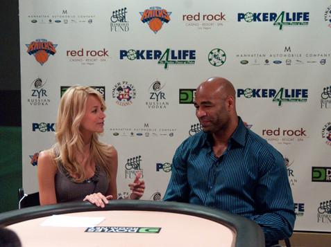 Hostess Sabina Gadecki interviews NY Ran