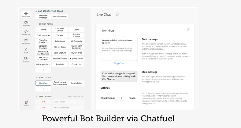 shopify app chatbot