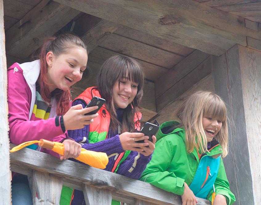 На колокольне часовни деревни Суднозеро