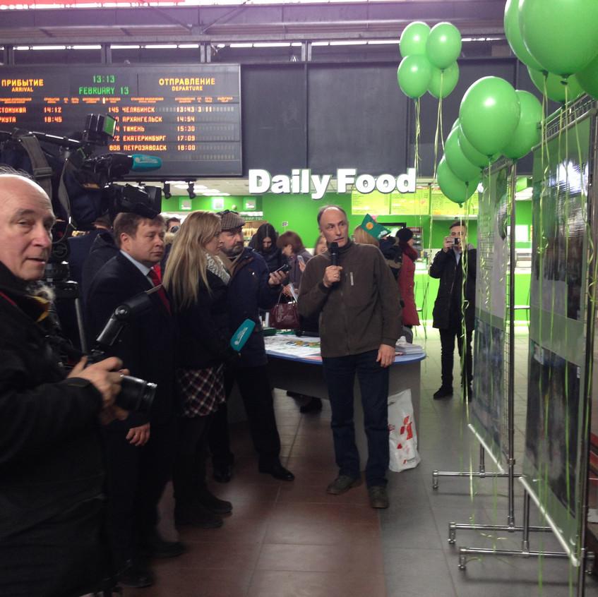 Фотовыставка на Ладожском вокзале 2