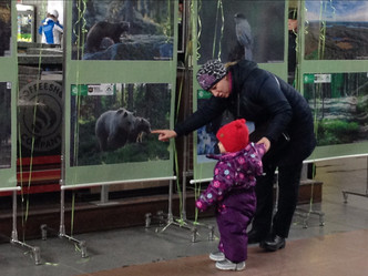 Фотовыставка на Ладожском вокзале