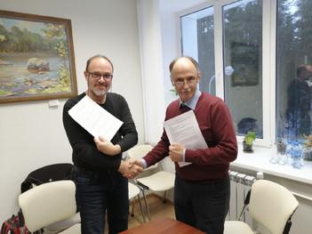 Подписание договора по научным работам