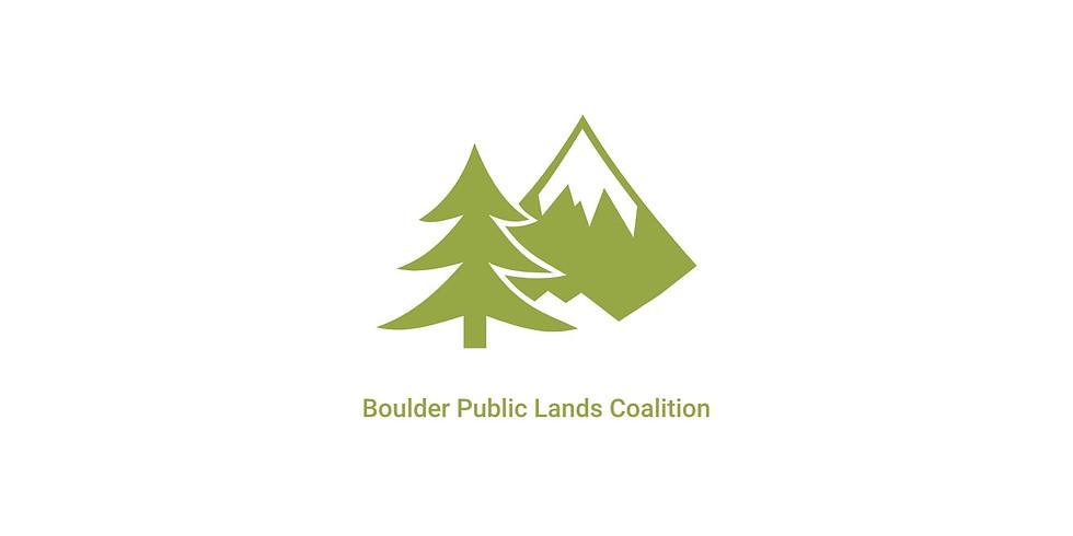 Boulder Public Lands Coalition Open Space Forum