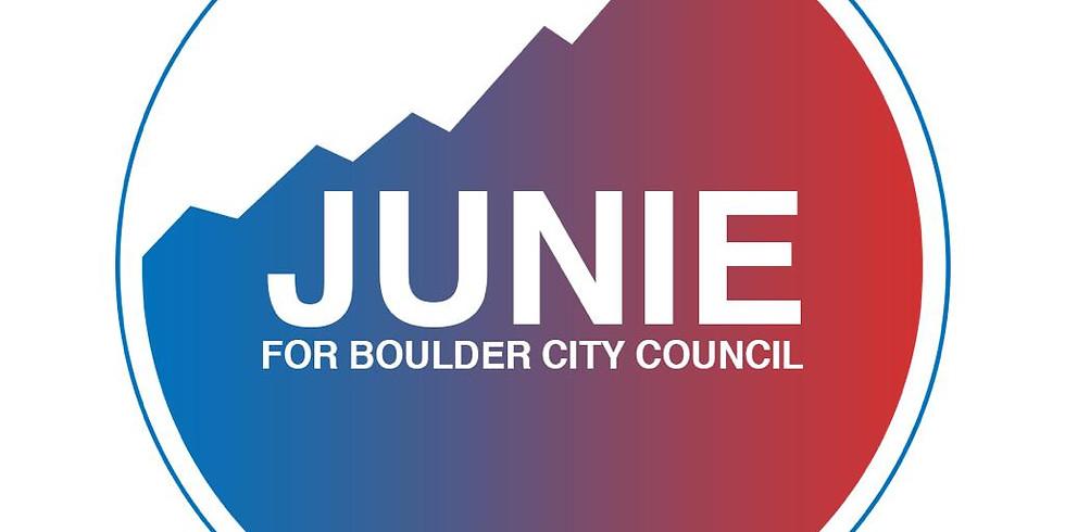 Junie For Boulder Kick-off Party