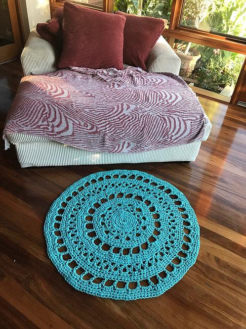 Crocheted Cotton Floor Rug