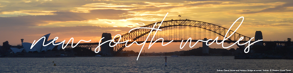 New South Wales Banner - Opera House and Harbour Bridge at Sunset