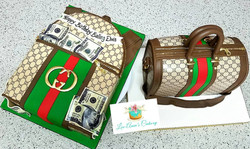 Matching his and hers Gucci bags