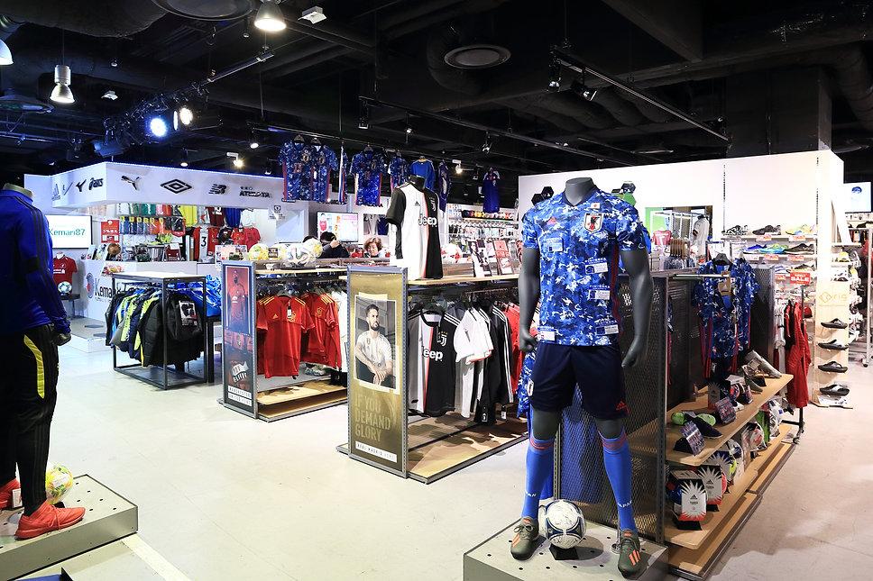 kemari87 スポーツショップ サッカーショップ  スポーツショップ 店舗デザイン 設計