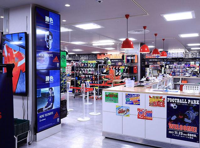 スポーツショップ サッカーショップ  スポーツショップ 店舗デザイン 設計