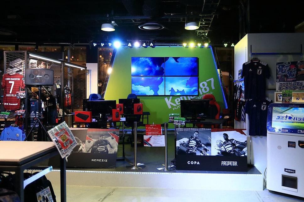 Kemari87 サッカーショップ スポーツショップ サッカーショップ  スポーツショップ 店舗デザイン 設計