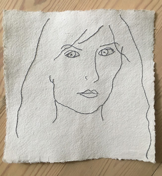 embroidery on handmade paper