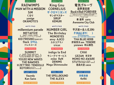 【Live】2021.8.22(日)・FUJI ROCK FESTIVAL'21@新潟県湯沢町苗場スキー場