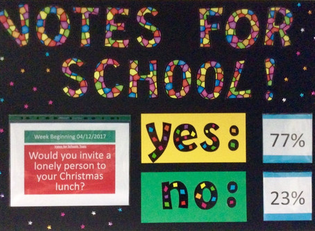 Votes For Schools: A Lonely Person For Christmas Lunch?