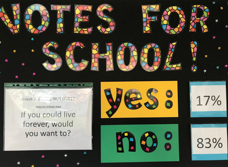 Votes For Schools: Who Wants To Live Forever?