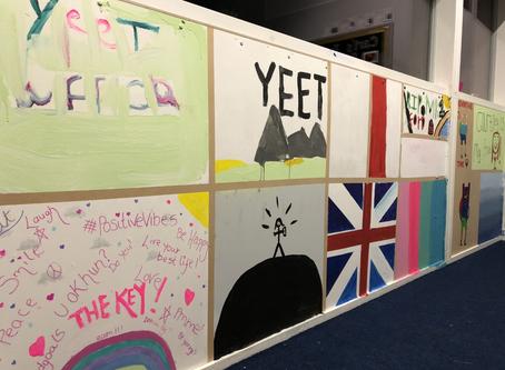 Building A Wall Of Art - Life Skills At The Key Gosport