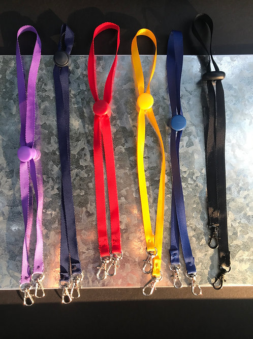 Mask Lanyard with Slide Ear Saver & Clasp