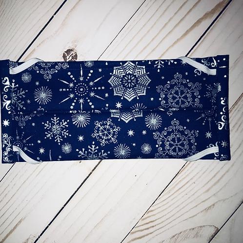Blue Snowflakes Mask