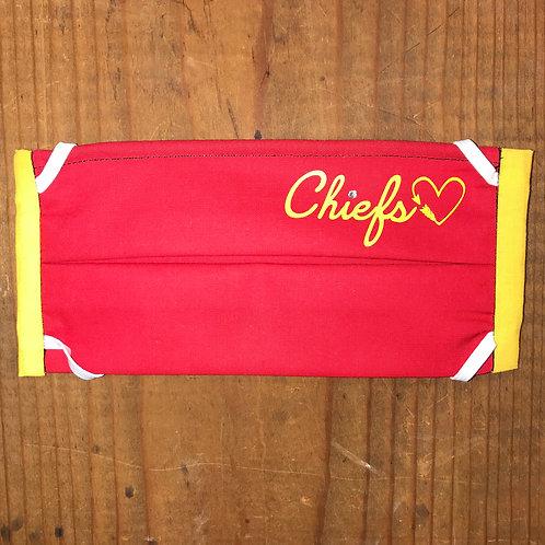 Chiefs Heart Mask