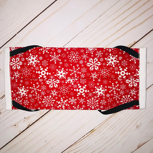 Red Snowflakes Mask