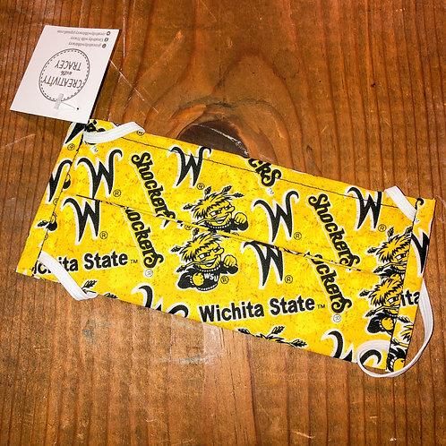 Yellow Wichita State Shockers Mask