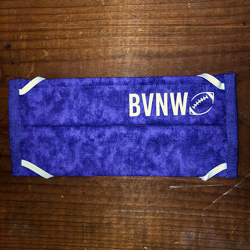 BVNW Purple Football Mask