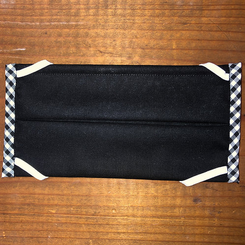 Black Mask with White & Black Check Pattern Sides
