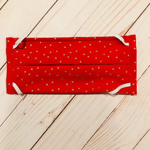 Red with Gold Stars Mask