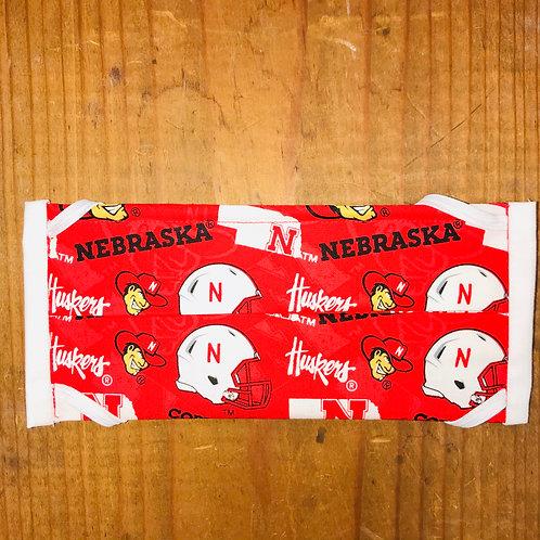 Nebraska Huskers Football Print Mask