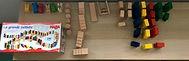 Jeu de construction à base de dominos en bois