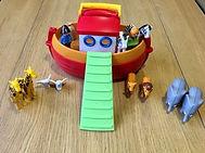 Jeu de mise en scène sur le thème de l'arche de Noé