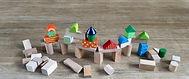 Jeu de construction à base d'éléments en bois
