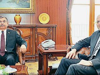 Koçer, TBMM Başkanı İsmet Yılmaz'ı makamında ziyaret etti.