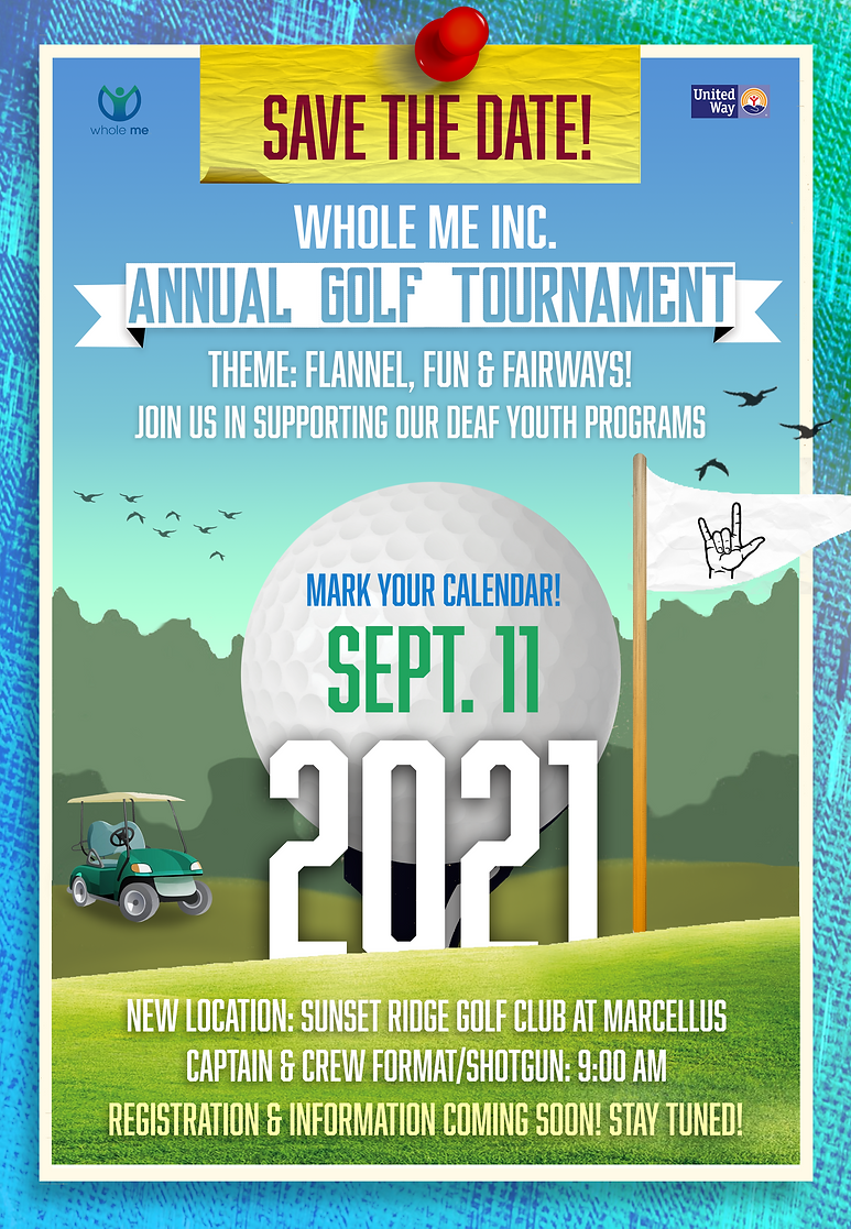 Annual Golf Tournament Save the Date 202