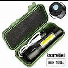 Lanterna Recarregável USB C/ Dupla Luz Cx Verde