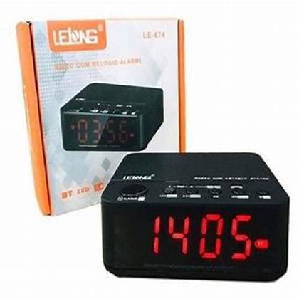 Rádio Relógio Lelong LE-671