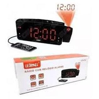 Rádio Relógio Com Projetor de Horas Lelong LE-672