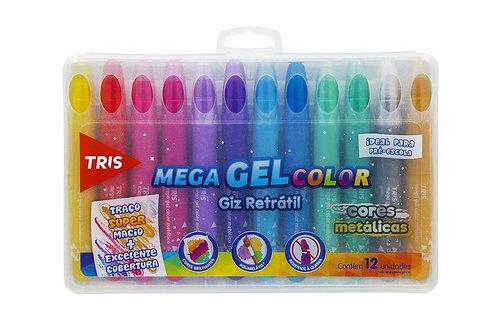 Giz De Cera Retrátil Mega Gel Color Tris