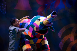 Elmer's multi-coloured story delights the kids