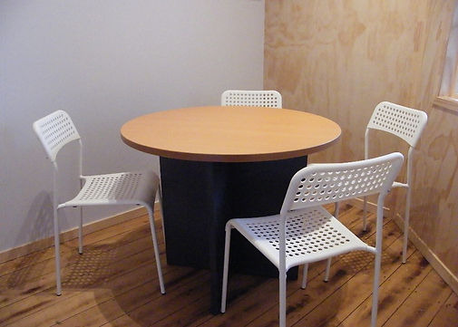 A meeting room available at Mount Maunganui. Book at impact383 workspace.
